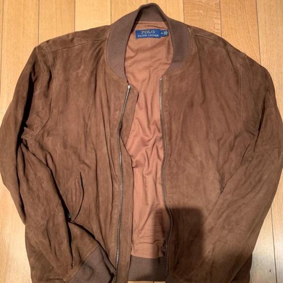 4c45ea8bc Mens Suede bomber jacket Ralph Lauren
